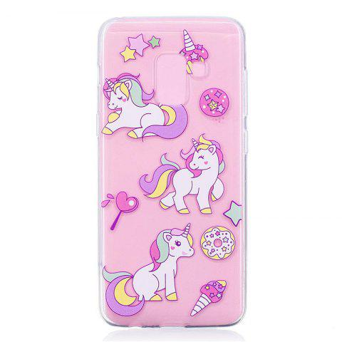 TPU Material Unicorn Pattern Painted Phone Case for Samsung Galaxy A5(2018) - COLOUR