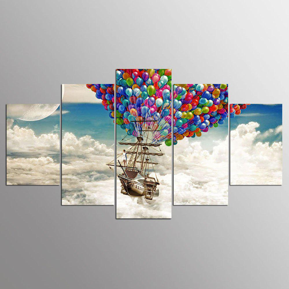 YSDAFEN 5PCS Balloon Airship Canvas Art For Living Room Modern Cuadros Decoracion 6 5ft diameter inflatable beach ball helium balloon for advertisement