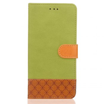 Hit Color Cowboy stripes Leaf Card Lanyard Pu Leather Cover for Samsung S5 - GREEN GREEN