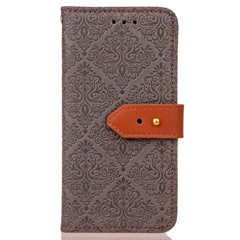 European Style Card Lanyard Pu Leather Cover for Sony XZ1 compact - GRAY