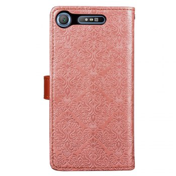 European Style Card Lanyard Pu Leather Cover for Sony XZ1 compact - ROSE GOLD