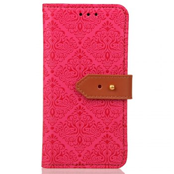 European Style Card Lanyard Pu Leather Cover for Sony XZ1 compact - ROSE RED ROSE RED