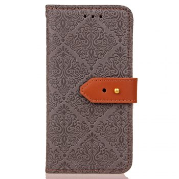 European Style Card Lanyard Pu Leather Cover for Sony XZ1 compact - GRAY GRAY