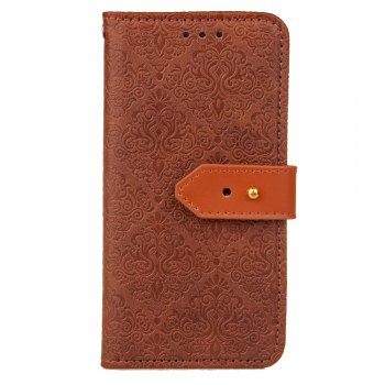 European Style Card Lanyard Pu Leather Cover for Sony XZ1 - DEEP BROWN DEEP BROWN