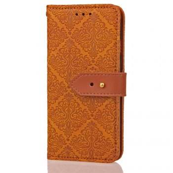 European Style Card Lanyard Pu Leather Cover for Sony XZ1 - LIGHT BROWN