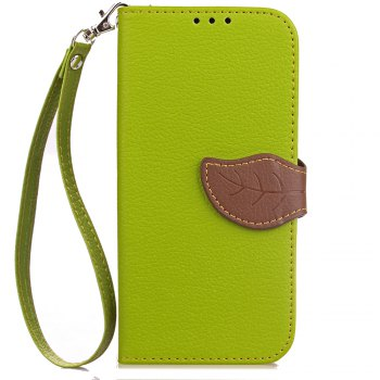 Leaf Card Lanyard Pu Leather Cover for ASUS ZD552kl - GREEN GREEN