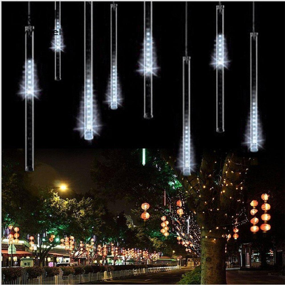 SUPli LED Meteor Shower Lights for Holiday Valentine Wedding Party Decoration - WHITE US