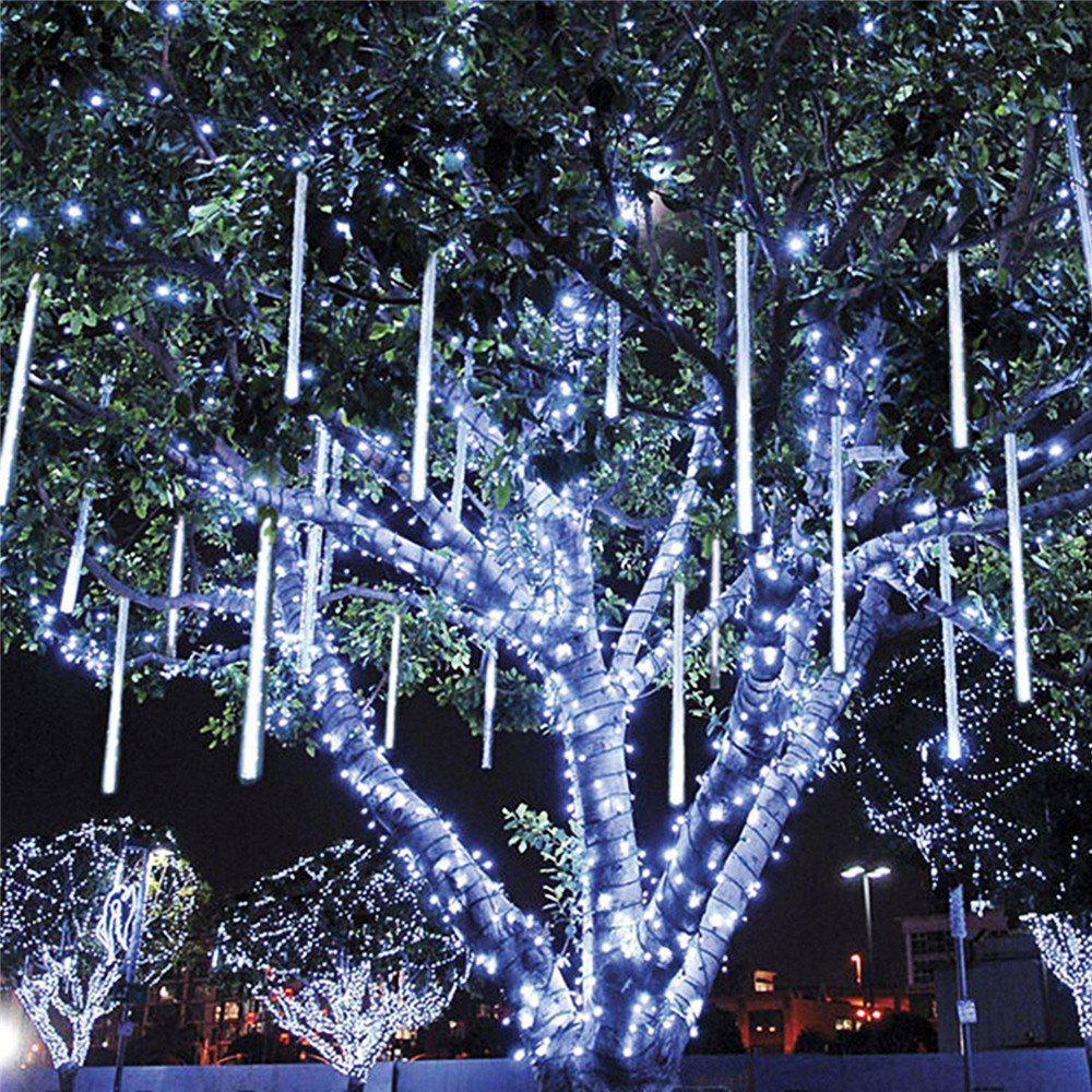 SUPli LED Meteor Shower LightsFalling Rain Drop Icicle Snow Fall String LED Waterproof Christmas Lights for Holiday Xmas Tree Valentine Wedding Party Decoration - WHITE US