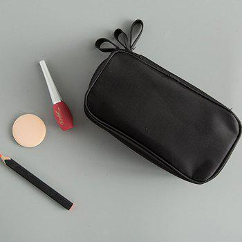 Storage Bag Simple Black Red Multifuction Layers Travelling Container Cosmetic Bag - BLACK