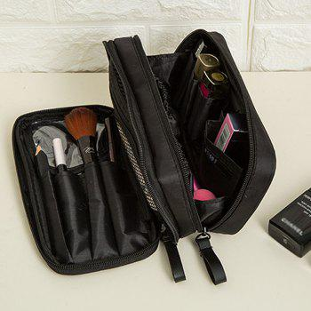 Storage Bag Simple Black Red Multifuction Layers Travelling Container Cosmetic Bag - BLACK BLACK