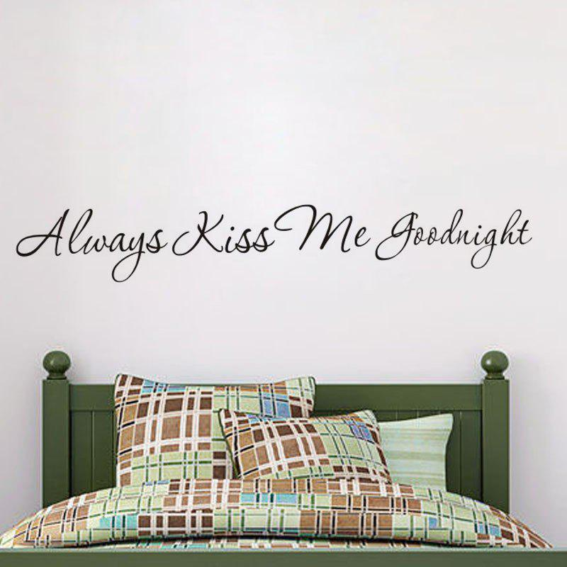DSU Always Kiss Me Goodnight T Valentine'S Day Quotes Vinyls Stickers Wall Stickers Home Decor Living Room