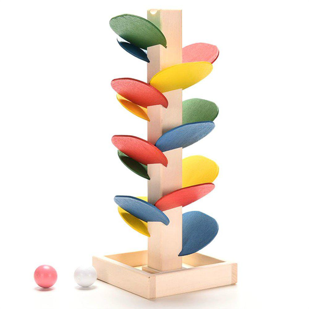 Wooden Toys Building Blocks Tree Marble Ball Run Track Game Educational Baby Kids Bauble wooden tree marble ball run track game baby montessori model building blocks children kids intelligence educational toy