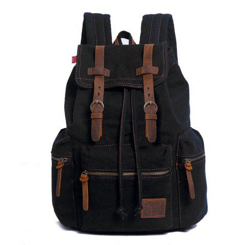 Fashion Men Vintage Canvas Backpack Girls School Bag Women Travel Large  Capacity Backpacks - BLACK SMALL f3431e79d9b7a