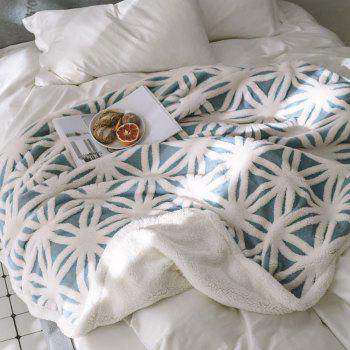 New Product Jacquard Super Soft Double-Layer Reinforced Lamb Pile Blanket - BLUE 130CM X 160CM