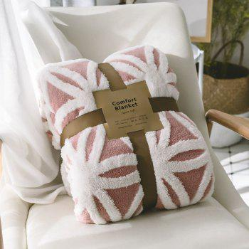 New Product Jacquard Super Soft Double-Layer Reinforced Lamb Pile Blanket - RED 130CM X 160CM