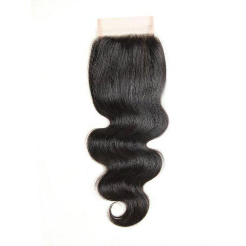 Brazilian Virgin Hair Extension Body Wave Lace Closure 8 inch - 20 inch - BLACK 12INCH