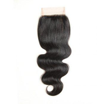 Brazilian Virgin Hair Extension Body Wave Lace Closure 8 inch - 20 inch - BLACK BLACK