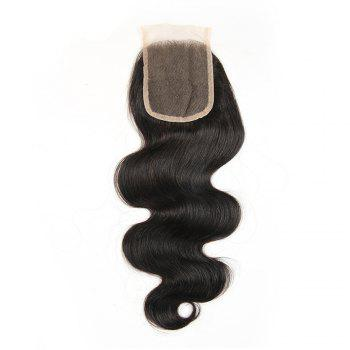 Brazilian Virgin Hair Extension Body Wave Lace Closure 8 inch - 20 inch - BLACK 10INCH