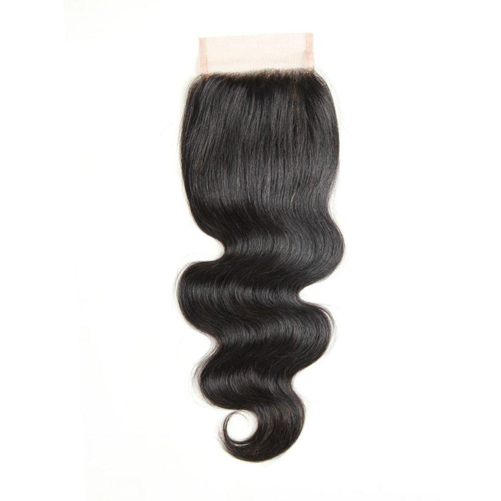 Brazilian Virgin Hair Extension Body Wave Lace Closure 8 inch - 20 inch - BLACK 14INCH