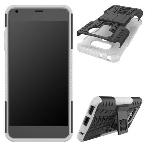 Case for LG G6 Mobile Phone Protection Shell for LG G6 Mobile Protection Shell Belt Support - WHITE