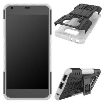 Case for LG G6 Mobile Phone Protection Shell for LG G6 Mobile Protection Shell Belt Support - WHITE WHITE