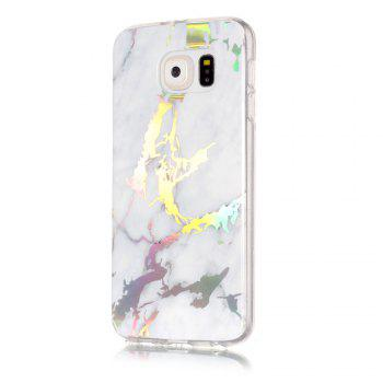 Luxury Ultra Thin Soft TPU Marble Case for Samsung Galaxy S6 - WHITE