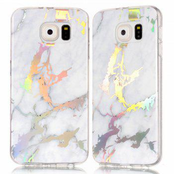 Luxury Ultra Thin Soft TPU Marble Case for Samsung Galaxy S6 - WHITE WHITE