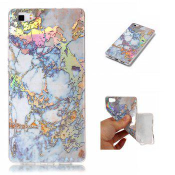 Luxury Ultra Thin Soft TPU Marble Case for Huawei P8 Lite - GOLDEN GOLDEN