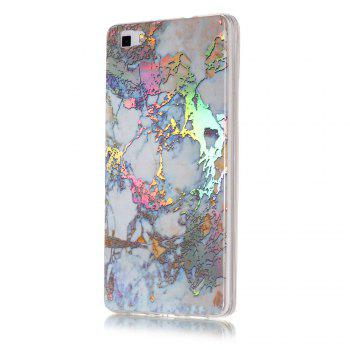 Luxury Ultra Thin Soft TPU Marble Case for Huawei P8 Lite -  GOLDEN
