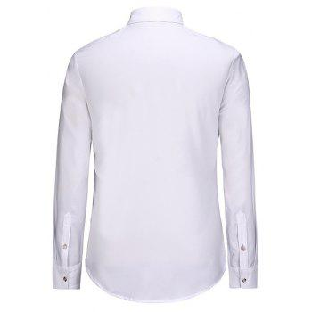 3D Personalized Print Creative Doodle Button Unlined Men'S Long Sleeve Shirt - WHITE L
