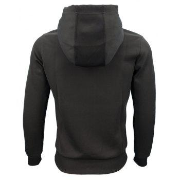 Spring and Autumn Men'S Hooded Printing Fashion Casual Sports Slim Hoodie - BLACK L