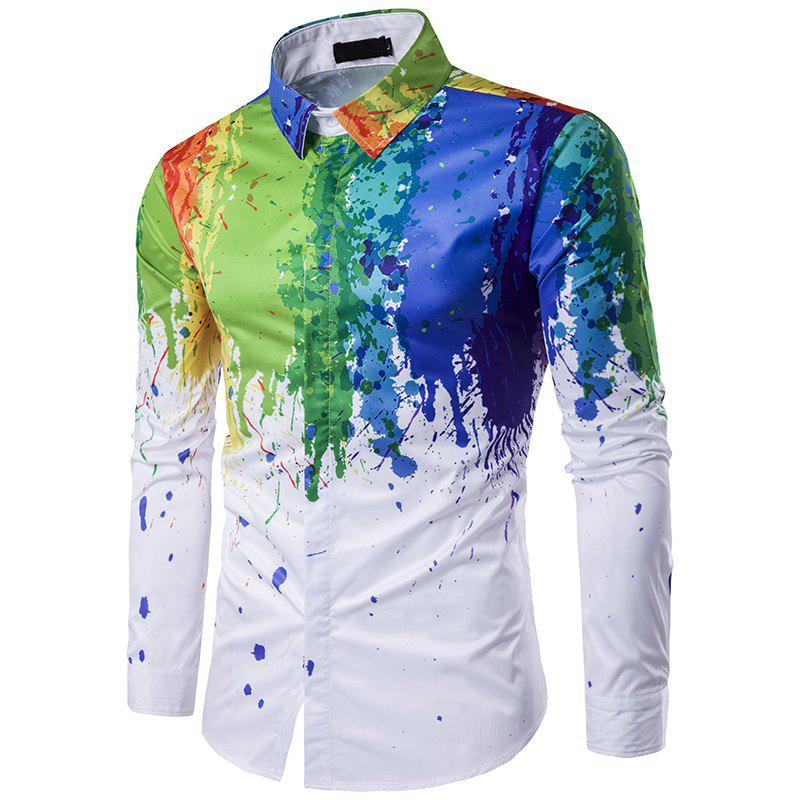 Black And White Paint Splatter Mens