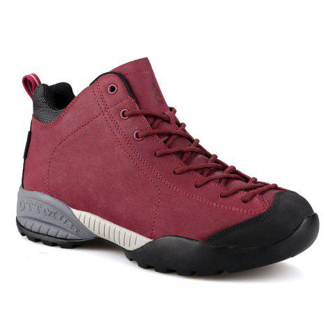 ec2306dbcd3 HUMTTO Women's Hiking Shoes Winter Leather Sneakers Climbing Boots