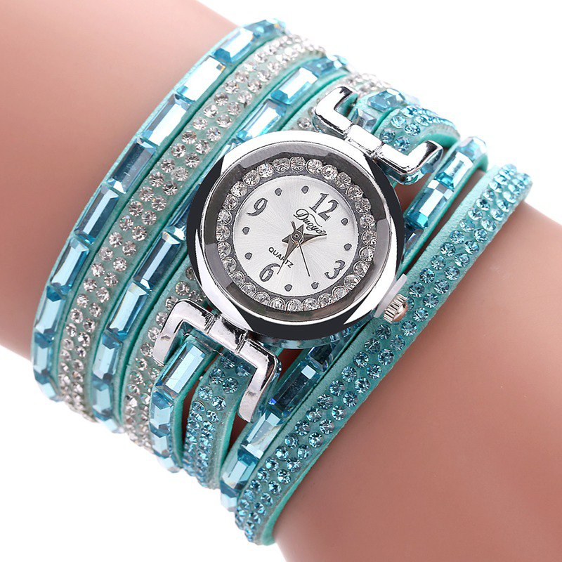 DUOYA D159 Bracelet Watch Women Watch Quartz Luxury Watch - SKY BLUE