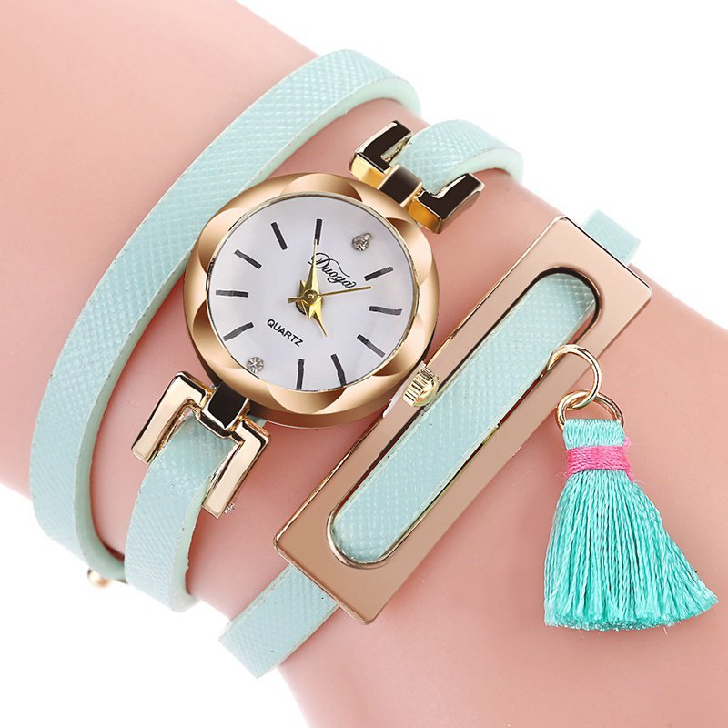 DUOYA D179 Ladies Fringed Analog Quartz Bracelet Wrist Watches - SKY BLUE