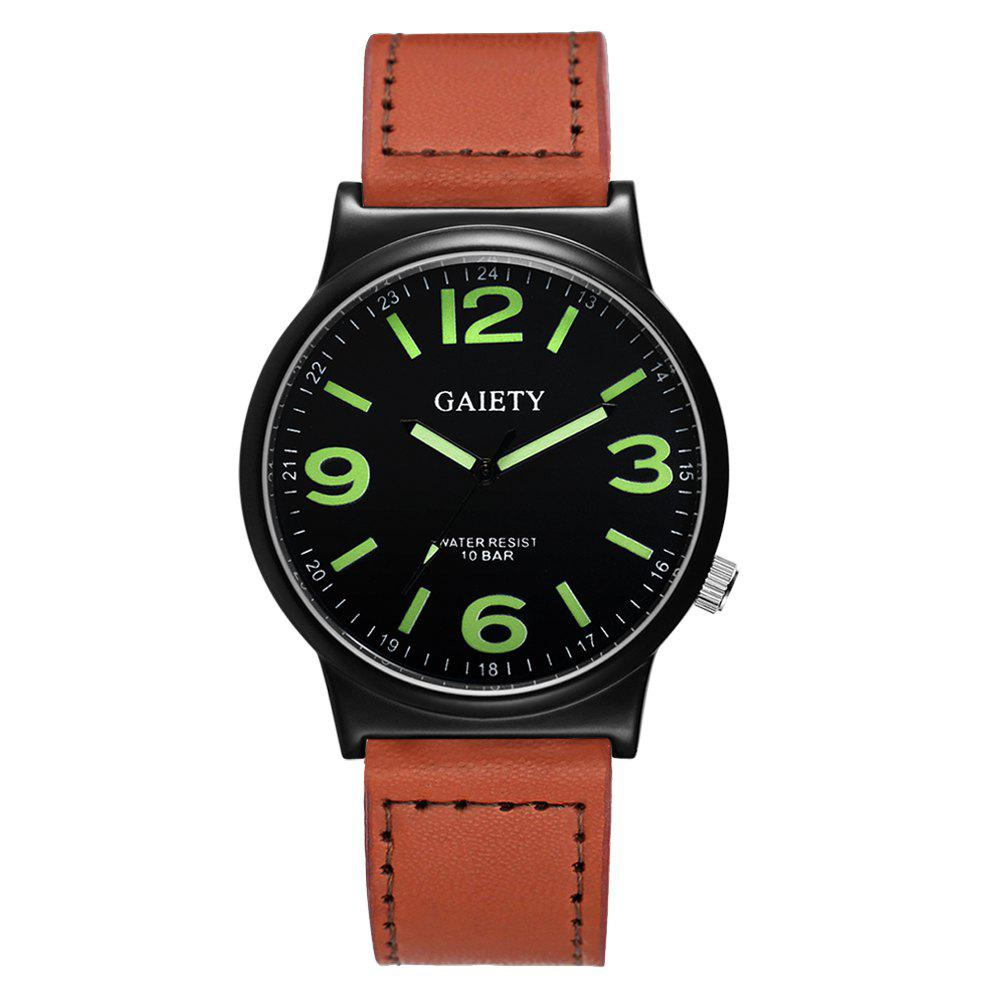 GAIETY G442 Men's Business Leather Watch - COFFEE