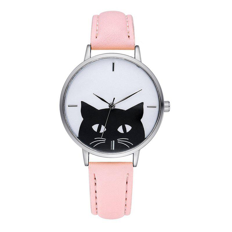 GAIETY G066 ladies leather fashion watch - PINK