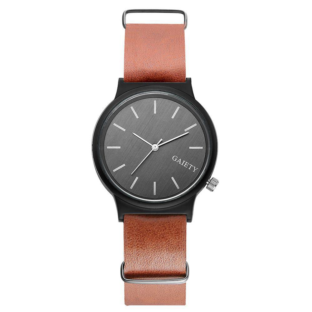 GAIETY G045 Men Fashion Leather Watch - COFFEE