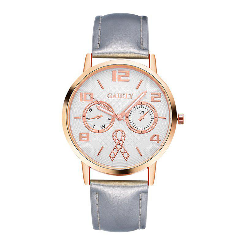 GAIETY G074 ladies fashion leather watch - SILVER