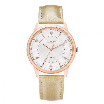 GAIETY G047 Women's Leather Fashion Watch - GOLD GOLD