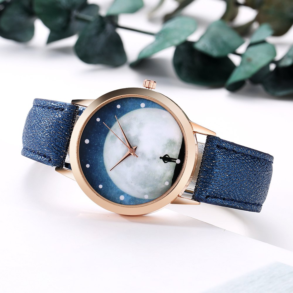 GAIETY Women's Unique Face Leather Quartz Watch Rose Gold Tone G388 от Dresslily.com INT