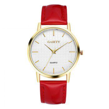GAIETY G077 Ladies Fashion Quartz Women Watches - RED RED