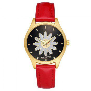 GAIETY G049 Women Casual Leather Watches - RED RED