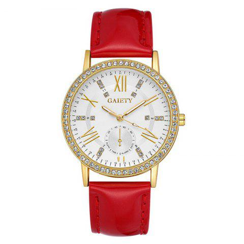GAIETY G081 Women Fashion Watch Ladies Quart Wristwatch - RED