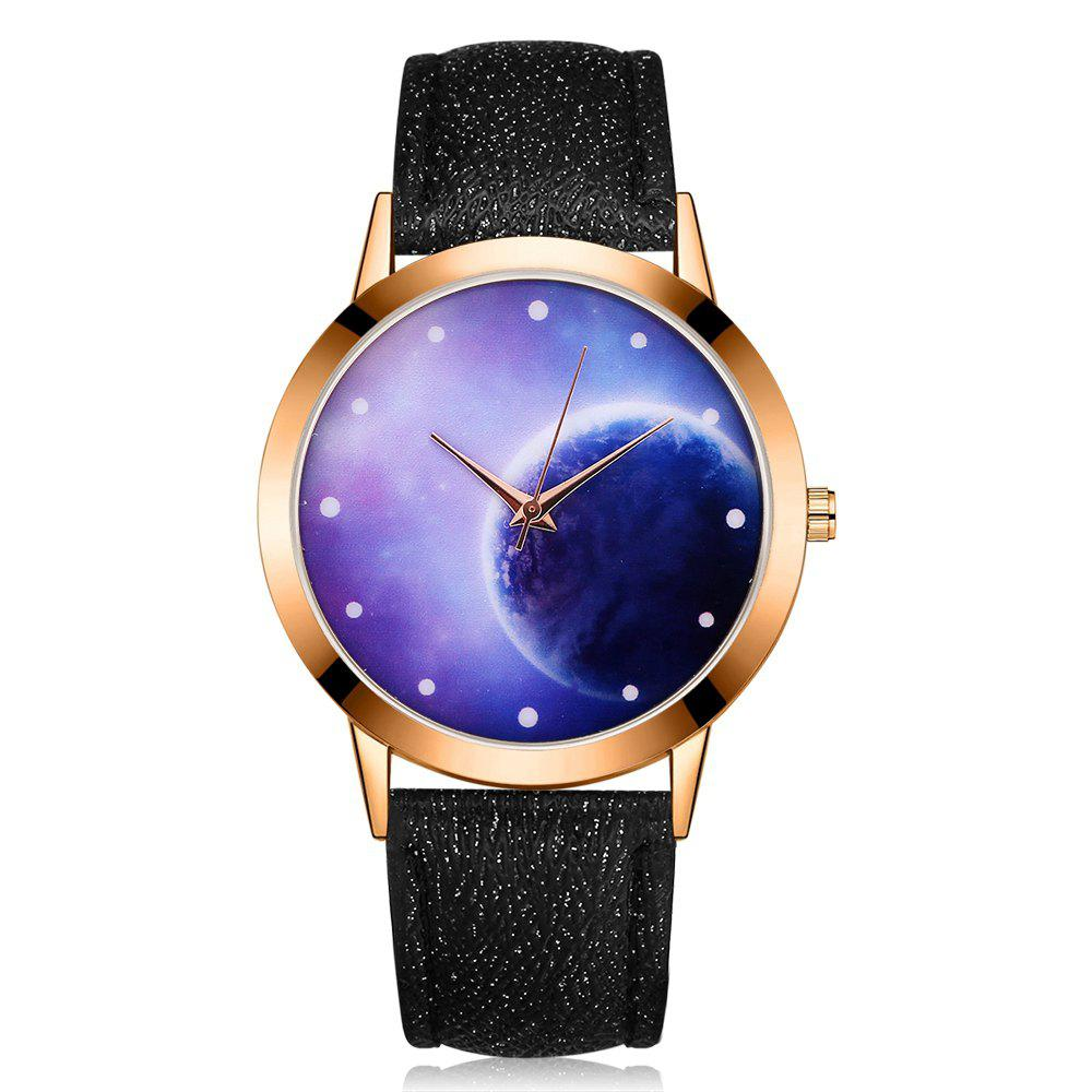 GAIETY Women's Space Face Leather Band Quartz Watch G387 gaiety g385 women s starry sky face leather band quartz watch