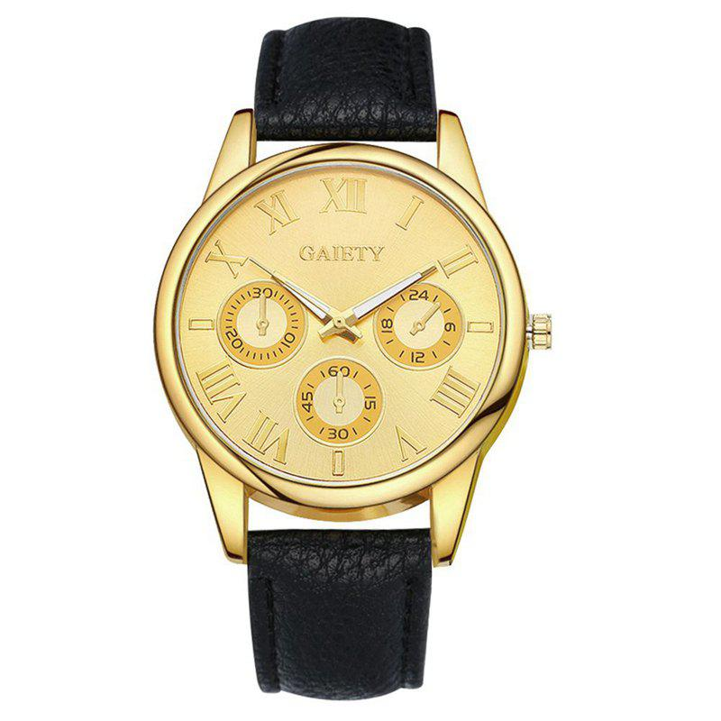 GAIETY G114 New Arrive Fashion Casual Leather Strap Watch Women - BLACK