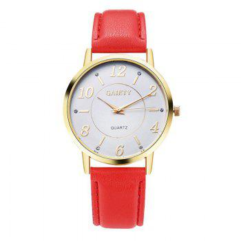 GAIETY G063 Ladies Casual Leather Watch - RED RED