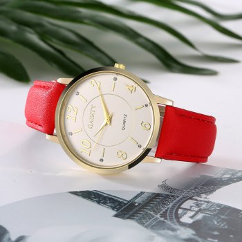GAIETY G063 Ladies Casual Leather Watch - RED