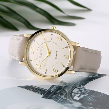 GAIETY G063 Ladies Casual Leather Watch - GREY