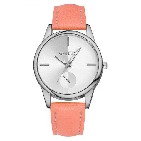 GAIETY G122 Fashion Watches For Women Classic Casual Leather - ORANGE